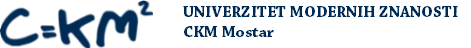 Univerzitet modernih znanosti - CKM Mostar Logo